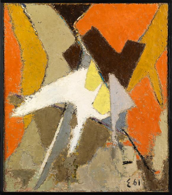 """<span class=""""artist""""><strong>Elie Borgrave</strong></span>, <span class=""""title""""><em>L'espoir des autres</em>, 1961</span>"""