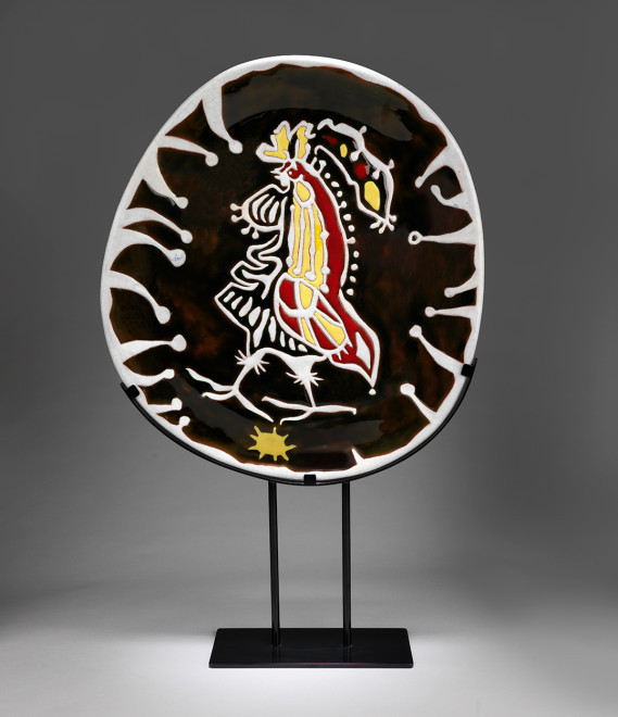 Plate - Oval - Brown & White - Daybreak
