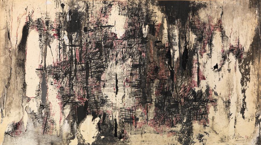 "<span class=""artist""><strong>Reinhold Koehler</strong></span>, <span class=""title""><em>Décollage 1958</em>, 1958</span>"