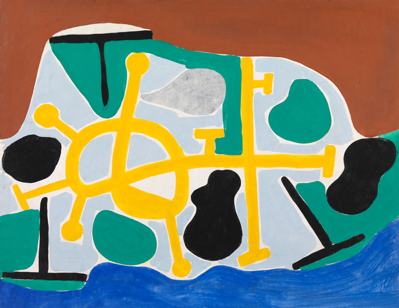 """<span class=""""artist""""><strong>Caziel</strong></span>, <span class=""""title""""><em>WC621 - Abstract Composition</em>, c. 1950</span>"""
