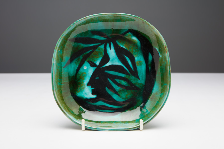 "<span class=""artist""><strong>Jean Lurçat</strong></span>, <span class=""title""><em>Plate - Green - Tree Nymph</em>, c. 1955</span>"