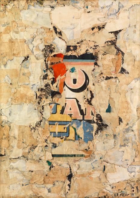 "<span class=""artist""><strong>Reinhold Koehler</strong></span>, <span class=""title""><em>Plakat-Décollage</em>, 1958</span>"