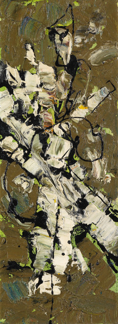 "<span class=""artist""><strong>Frank Avray Wilson</strong></span>, <span class=""title""><em>FAW858 - Interactions Green (Miniature)</em>, c. 1955</span>"