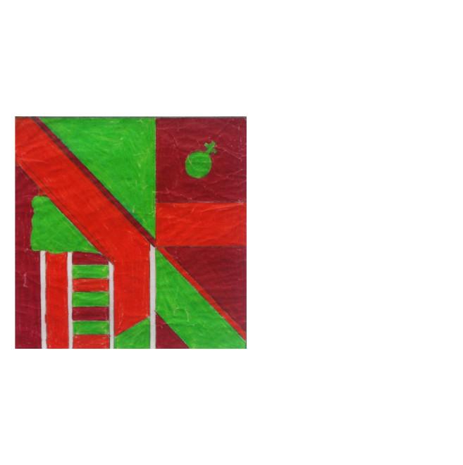 "<span class=""artist""><strong>Derek Boshier</strong></span>, <span class=""title""><em>Study for painting ""Flag""</em>, 1961</span>"