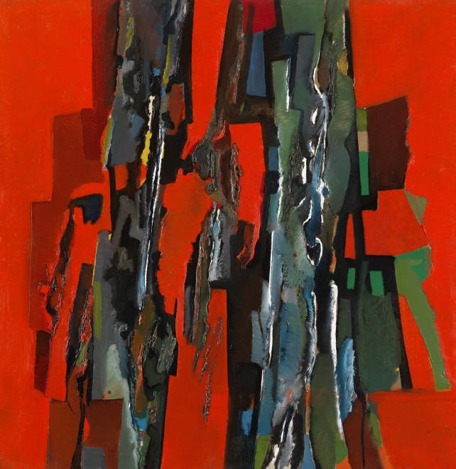 "<span class=""artist""><strong>Caziel</strong></span>, <span class=""title""><em>WC477 - Composition 1963.1</em>, 1963</span>"