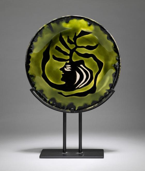 Plate - Green & Black - Medusa