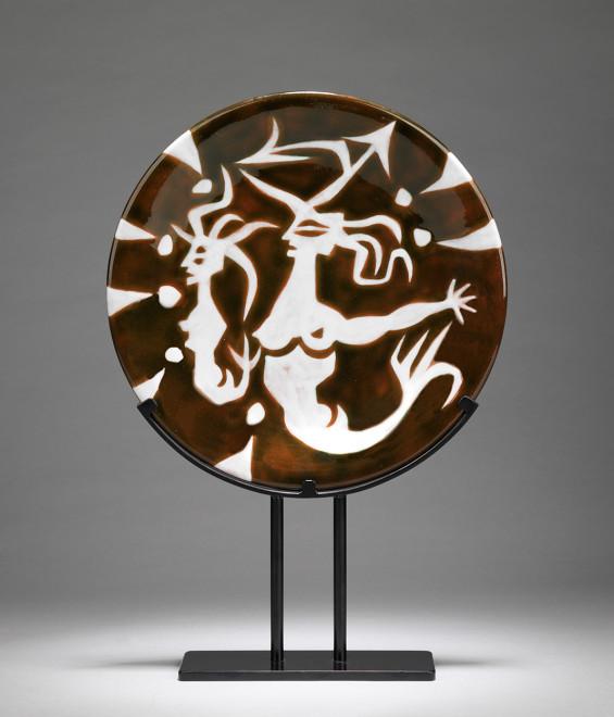 Plate - Brown - Mermaids