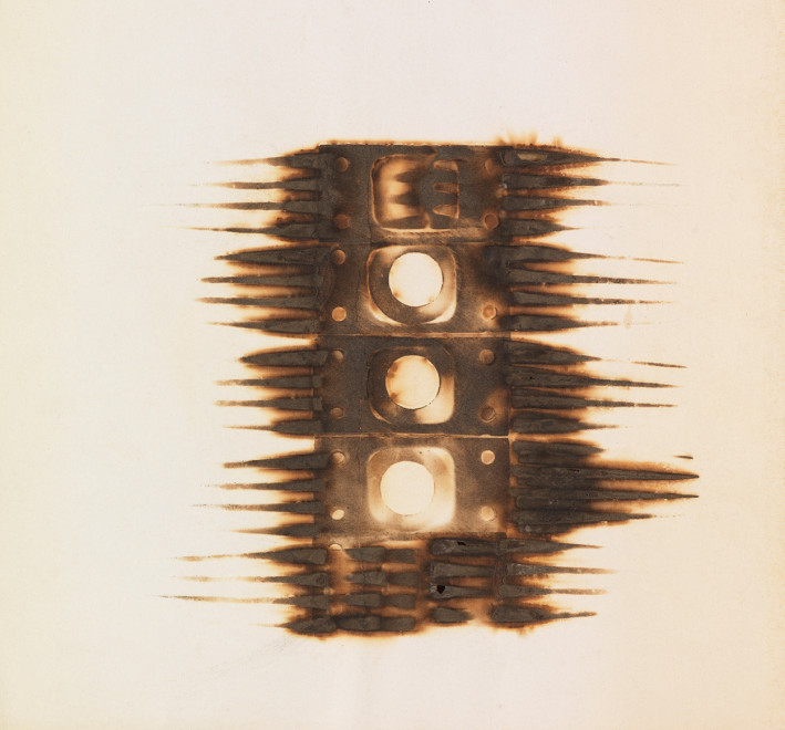 "<span class=""artist""><strong>Reinhold Koehler</strong></span>, <span class=""title""><em>Décollage Brûlé</em>, c. 1962</span>"