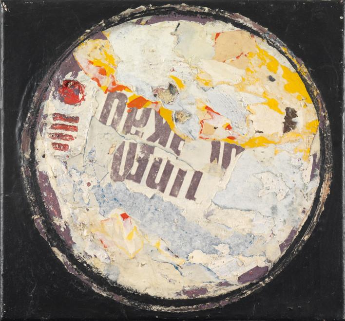 "<span class=""artist""><strong>Reinhold Koehler</strong></span>, <span class=""title""><em>Plakat-Décollage</em>, 1957</span>"