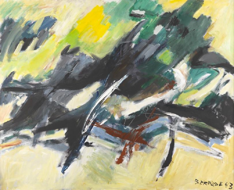 """<span class=""""artist""""><strong>Georges Bernède</strong></span>, <span class=""""title""""><em>C032 - Composition 83-3 - Ombre et Lumière Paysage</em>, 1983</span>"""