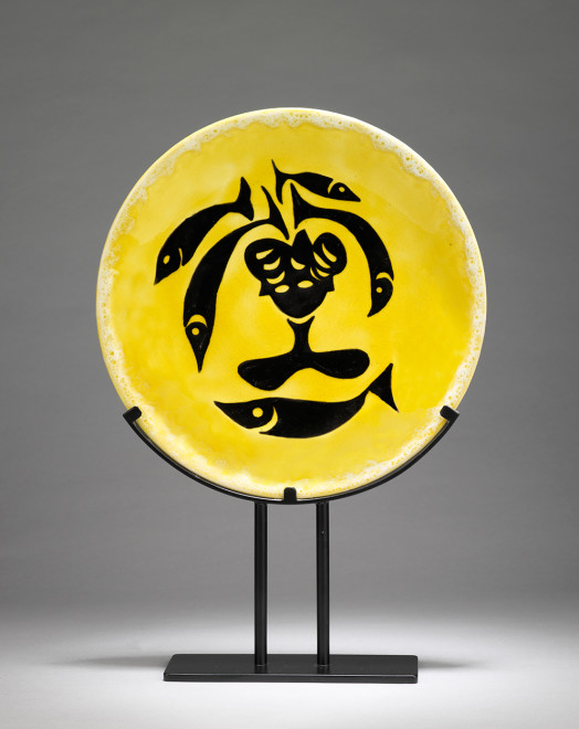 "<span class=""artist""><strong>Jean Lurçat</strong></span>, <span class=""title""><em>Plate - Yellow - Sea Nymph</em>, c. 1955</span>"