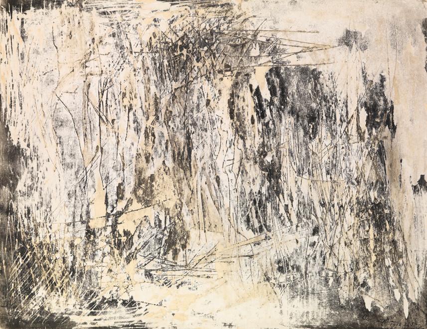 "<span class=""artist""><strong>Reinhold Koehler</strong></span>, <span class=""title""><em>Décollage 1958 II/2</em>, 1958</span>"