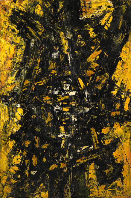 "<span class=""artist""><strong>Frank Avray Wilson</strong></span>, <span class=""title""><em>FAW787 - Configuration in Yellow and Black</em>, 1959</span>"