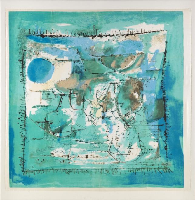 """<span class=""""artist""""><strong>Zao Wou-Ki</strong></span>, <span class=""""title""""><em>Paysage Bleu</em>, 1955</span>"""
