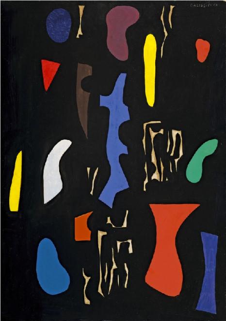 "<span class=""artist""><strong>Caziel</strong></span>, <span class=""title""><em>WC471 - Composition 09.51</em>, 1951</span>"