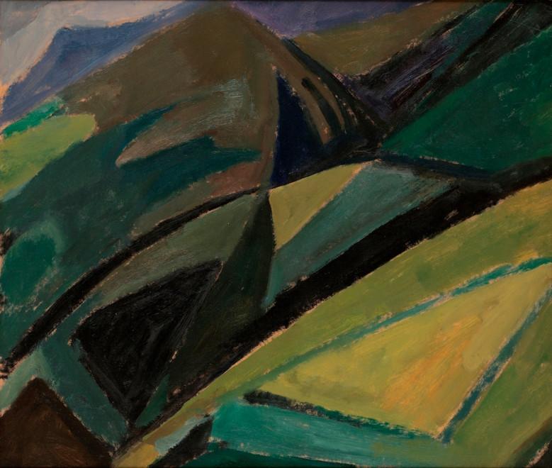 "<span class=""artist""><strong>Mildred Bendall</strong></span>, <span class=""title""><em>Mountain Landscape</em>, c. 1950</span>"