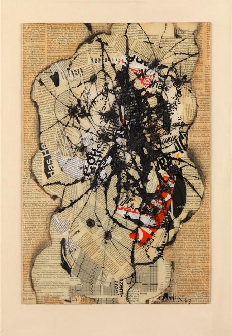 "<span class=""artist""><strong>Reinhold Koehler</strong></span>, <span class=""title""><em>Raum-Feld-Körper, Contre-Collage</em>, 1963</span>"