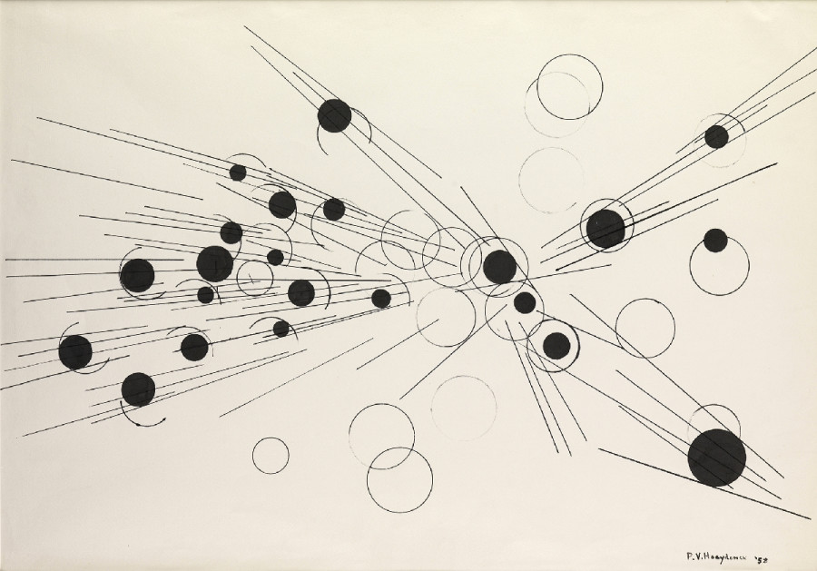 <span class=&#34;artist&#34;><strong>Paul Van Hoeydonck</strong></span>, <span class=&#34;title&#34;><em>PVH122 - Composition</em>, 1958</span>