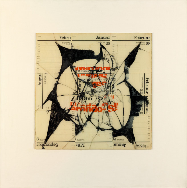 "<span class=""artist""><strong>Reinhold Koehler</strong></span>, <span class=""title""><em>Figur Ondo, Contre-Collage</em>, 1968</span>"