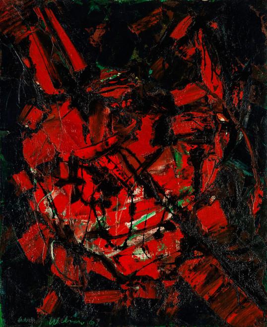 """<span class=""""artist""""><strong>Frank Avray Wilson</strong></span>, <span class=""""title""""><em>Greeting</em>, 1961</span>"""