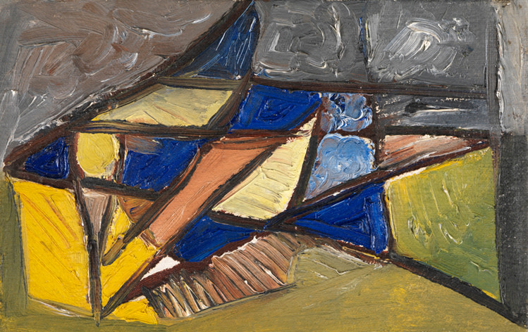 """<span class=""""artist""""><strong>Caziel</strong></span>, <span class=""""title""""><em>WC678 - Abstract Composition</em>, c. 1948</span>"""