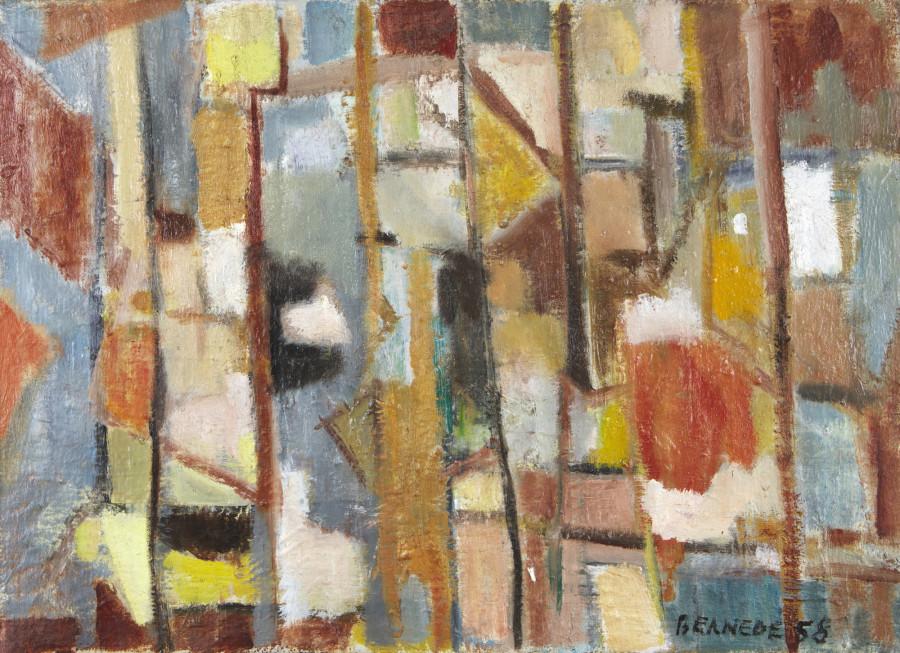 "<span class=""artist""><strong>Georges Bernède</strong></span>, <span class=""title""><em>C061 - Composition 58</em>, 1958</span>"