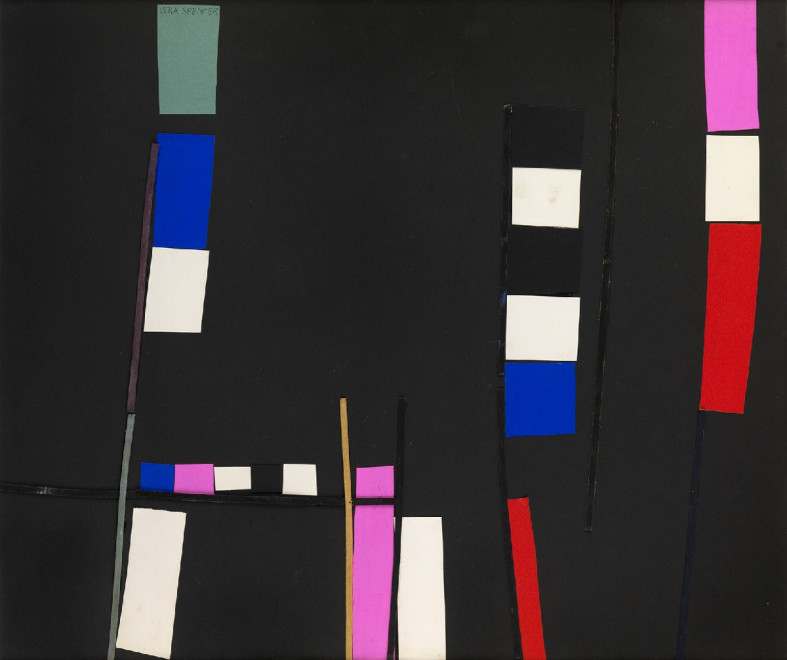 "<span class=""artist""><strong>Vera Spencer</strong></span>, <span class=""title""><em>Composition (black)</em>, 1952</span>"