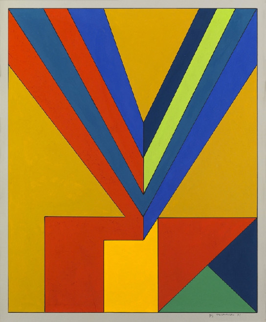 "<span class=""artist""><strong>Guy Vandenbranden</strong></span>, <span class=""title""><em>Abstract Composition</em>, 1973</span>"