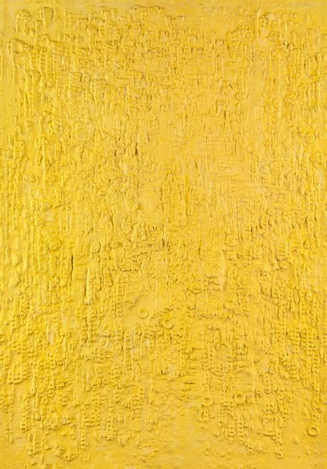 """<span class=""""artist""""><strong>Reinhold Koehler</strong></span>, <span class=""""title""""><em>Gelbes Sandbild 1960 IX</em>, 1959-1960</span>"""