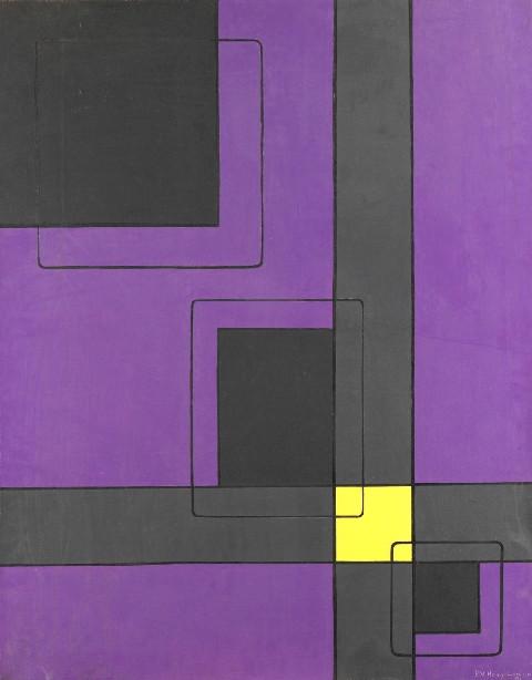 "<span class=""artist""><strong>Paul Van Hoeydonck</strong></span>, <span class=""title""><em>PVH081 - Carrefour Jaune</em>, 1956</span>"