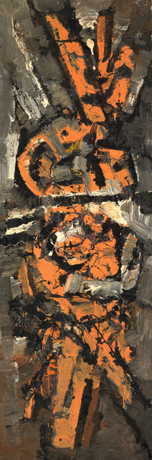 <span class=&#34;artist&#34;><strong>Frank Avray Wilson</strong></span>, <span class=&#34;title&#34;><em>FAW820 - Tribute to Carbon Atom</em>, 1958</span>