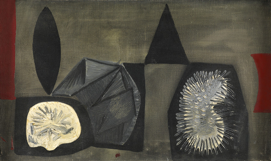 "<span class=""artist""><strong>Caziel</strong></span>, <span class=""title""><em>WC216 - Composition with Organic Forms</em>, c.1955</span>"
