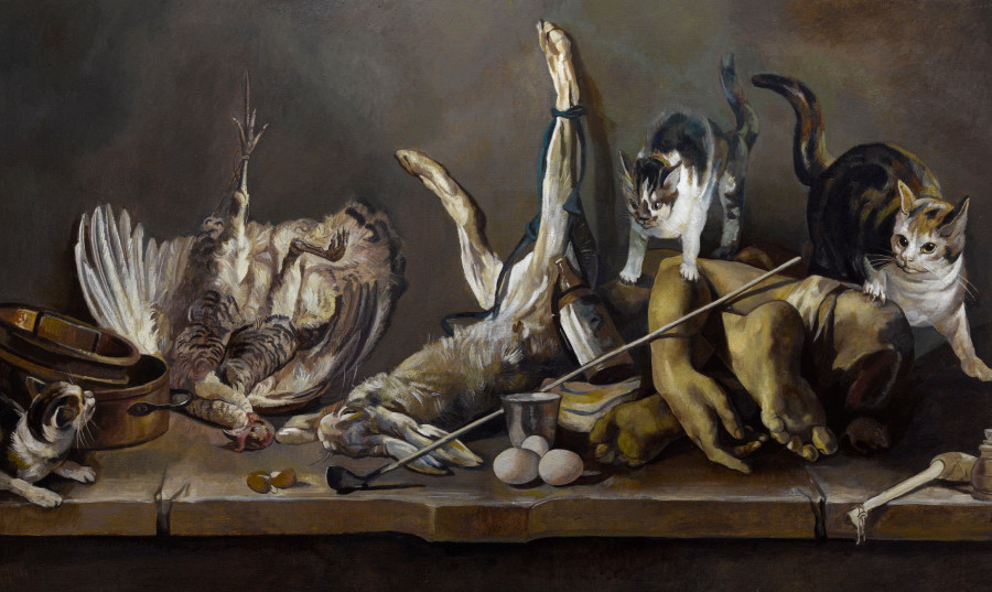 Still Life (Truncated Limbs And Cats)
