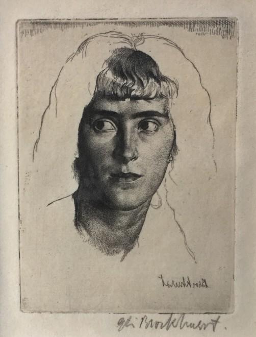 GERALD LESLIE BROCKHURST (1890-1978)  PHEMIE, 1923