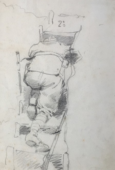 FORTUNINO MATANIA (1881-1963)  CLIMBING TO THE LOOKOUT, 1917