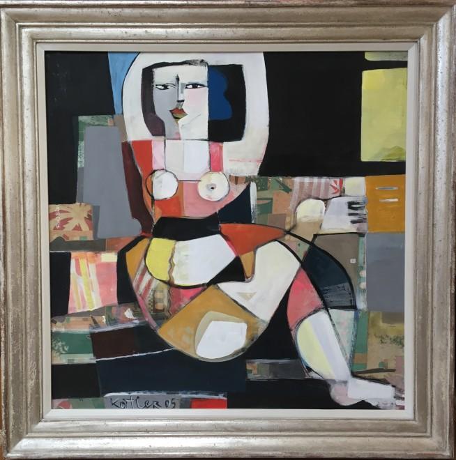 KLARA KOITLER (b. 1954)  FIGURE WITH ARMS RAISED