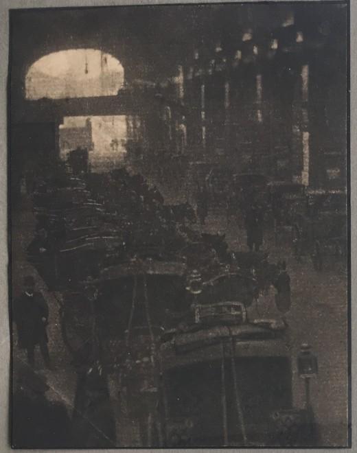 WALTER BENINGTON (1872-1936)  THE CAB RANK, 1909
