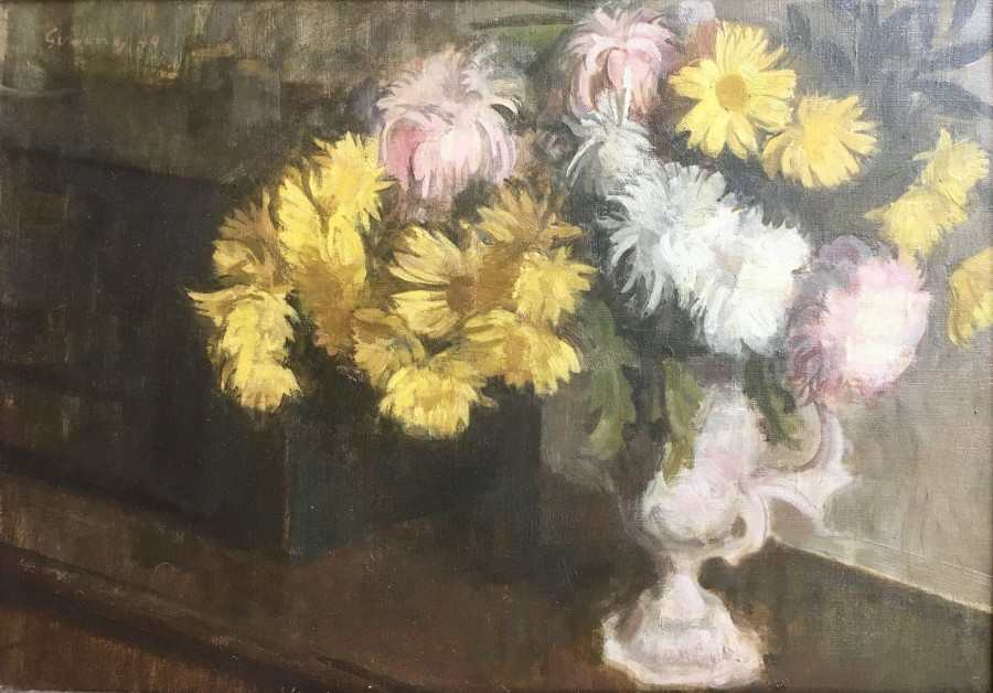 LAWRENCE GOWING (1918-1991)  CHRYSANTHEMUMS AND DAISIES, 1944  SOLD