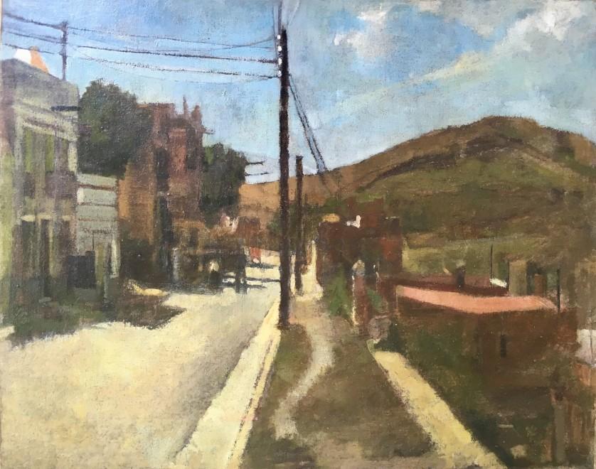 KEN HOWARD (b. 1932)  SPANISH STREET SCENE, 1952
