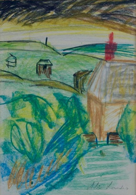 ALAN LOWNDES (1921-1978)  LANDSCAPE, HALSETOWN, NR. ST. IVES, c. 1956  SOLD