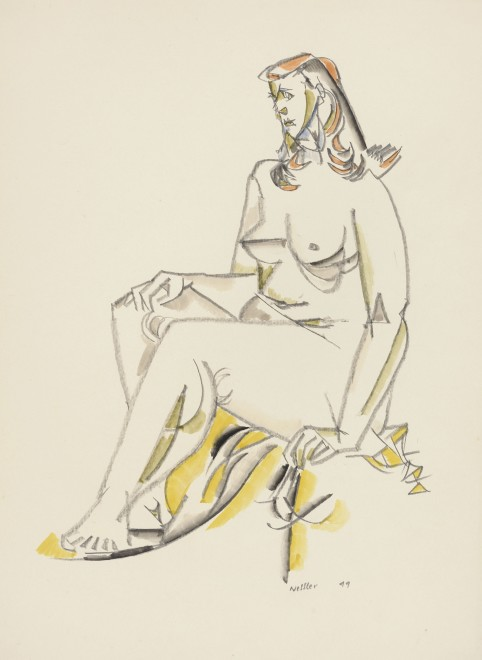 WALTER NESSLER (1912-2001)  SEATED NUDE, 1949
