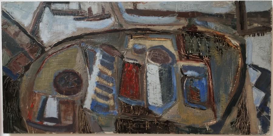 TONY O'MALLEY (1913-2003)  INTERIOR, ST. IVES, 1961