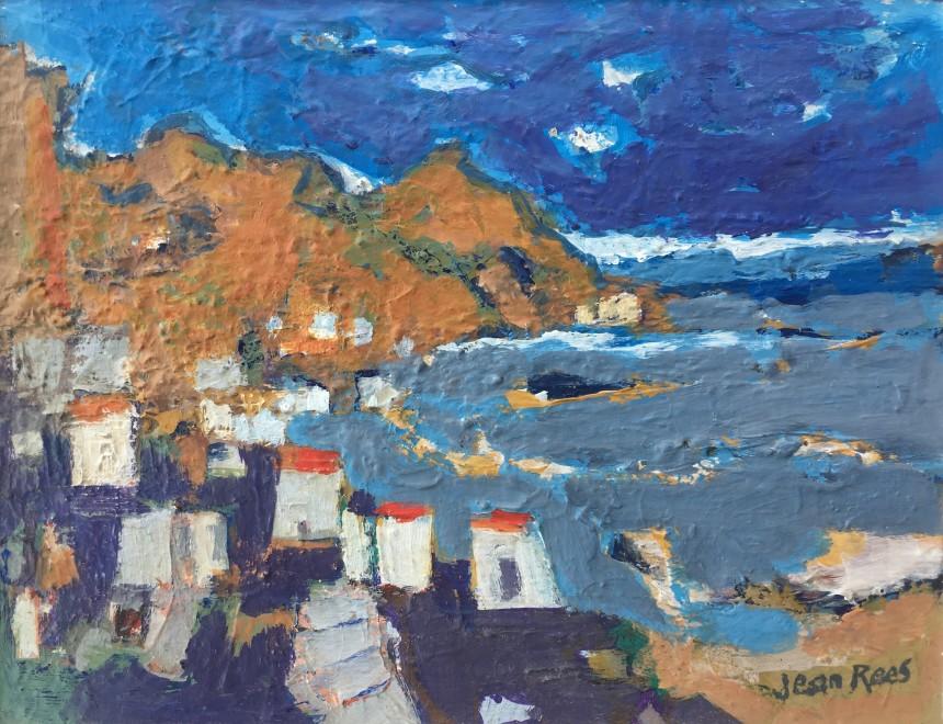 JEAN REES (1914-2004)  CRETAN LANDSCAPE