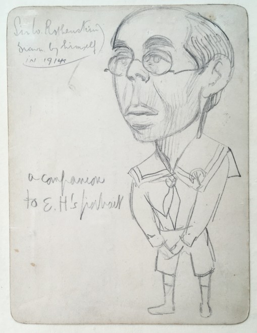 WILLIAM ROTHENSTEIN (1872-1945)  SELF PORTRAIT 1914