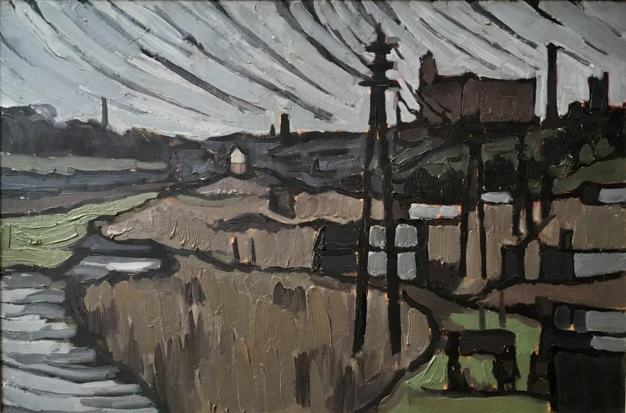 BRYAN SENIOR (b. 1935)  DEAN CLOUGH, BOLTON, 1957