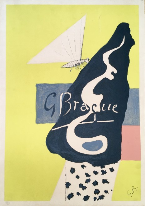 Poster for Braque Graveur, Berggruen & Co. Gallery, Paris