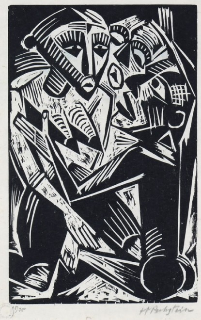 MAX PECHSTEIN (1881-1951)  WOMAN DESIRED BY MAN (WEIB VOM MANNE BEHEHFT), 1919