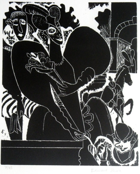 Edward Burra, Lady with Flowers, Conceived 1928-29
