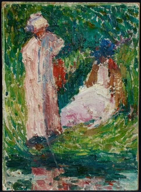 Henri Martin, Deux femmes au bord de l'eau, c. 1910