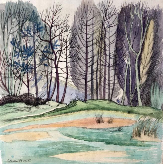 Ethelbert White, Woodland Landscape, c. 1915